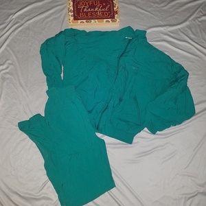 Reebok Track Suit Green Jumpsuit Windbreaker Small